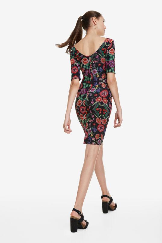 Slim Ottoman Floral Dress Garden | Desigual
