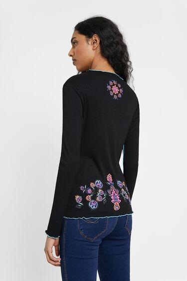 Slim embroidered T-shirt | Desigual