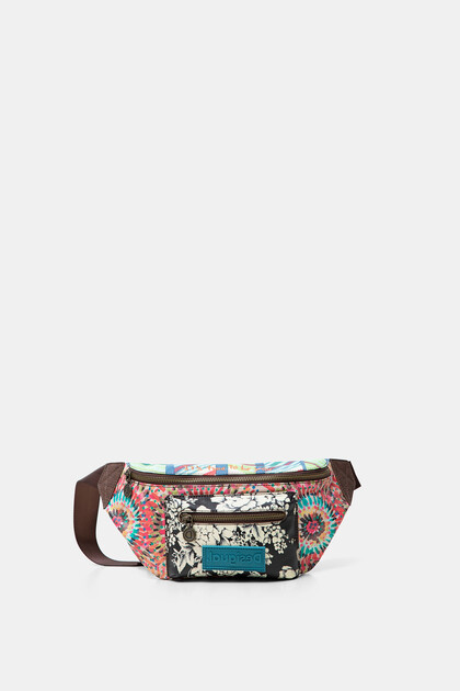 Patch print bum bag