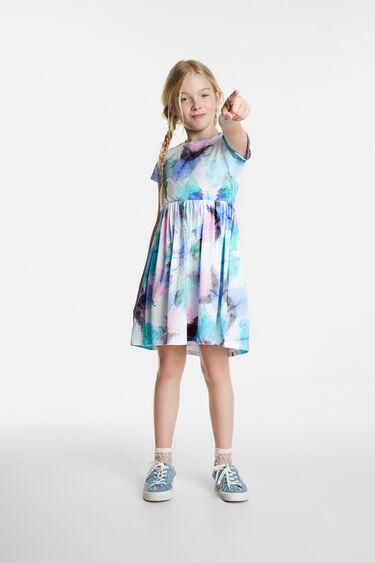 Organic skater type faded dress | Desigual