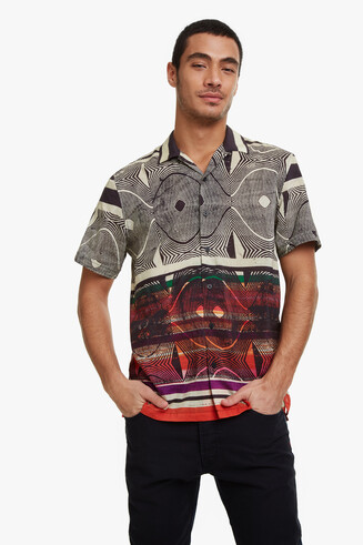 Camisa psicodèlica màniga curta Dan
