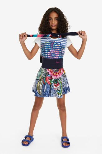 Floral Flared Skirt Segur