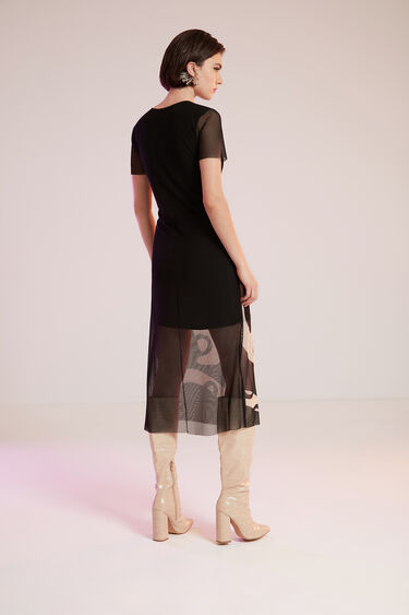 Robe longue semi-transparente | Desigual