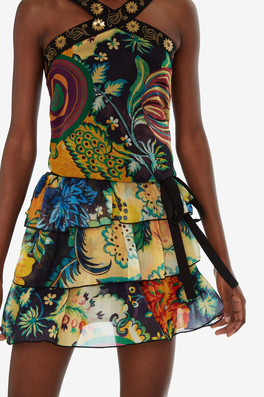 Short Flared Dress Paisley galáctico Designed by M. Christian Lacroix | Desigual