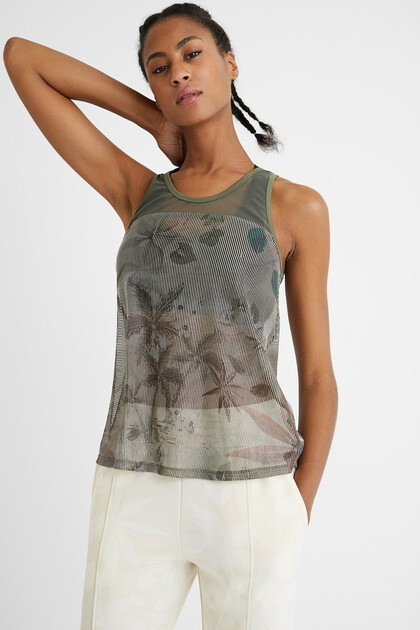 Sport T-shirt top palm trees