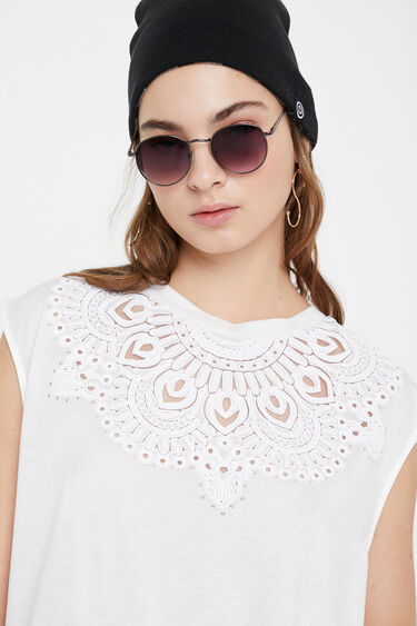 Embossed short sleeve T-shirt | Desigual