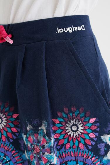 Short skirt plush drawstring | Desigual