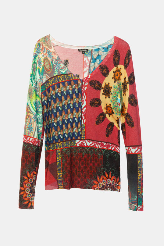 V-neck knitted jumper | Desigual