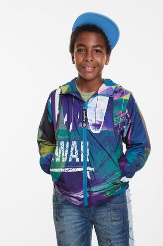 Unisex Hawaiian windbreaker jacket