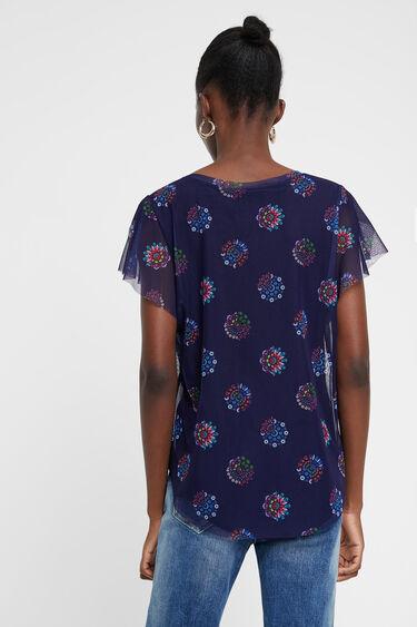 T-Shirt aus Tüll mit Mandalas | Desigual