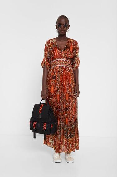 Vestido con cenefas africanas | Desigual
