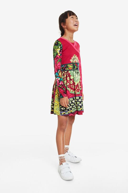 Blumiges, überkreuztes Kleid | Desigual