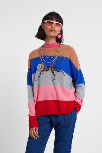 Oversized trui met aap