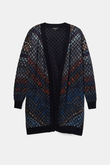 Fine knit open jacket | Desigual
