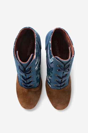 Bottine en jean talon bois | Desigual