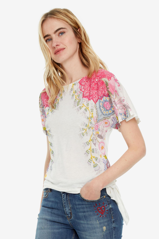 Le Côté Nœud Sur Imprimé Amur T Shirt 9bIYD2WHeE