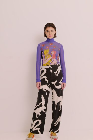 Cropped trousers animals | Desigual
