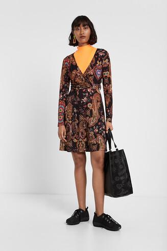 dd86916dfacf Herbstliches Boho-Kleid