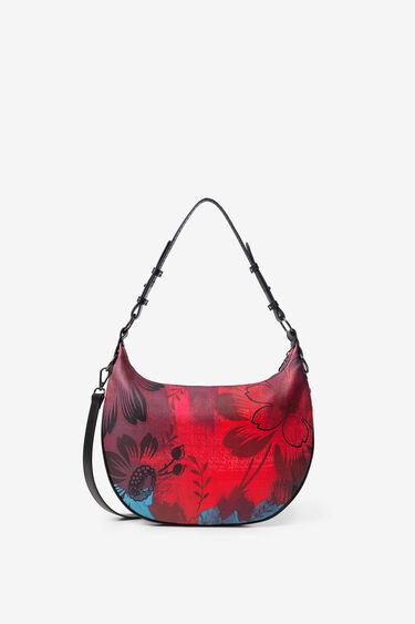 Crescent shoulder bag flowers | Desigual