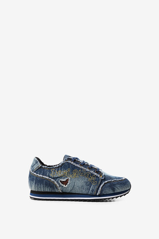 Denim running trainers