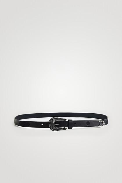 Basic narrow leather belt