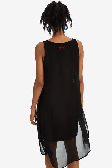Dwuwarstwowa sukienka z ozdobnym motywem na wierzchu | Desigual