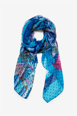Mix Prints Scarf Floresrayadas