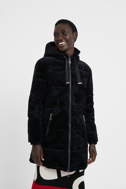 Padded jacket velvet lining