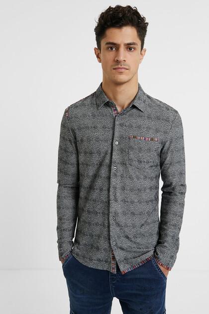Slim print shirt