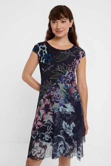 Dress flowers animal print | Desigual