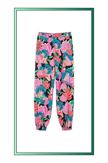 Pantalón jogger floral | Desigual