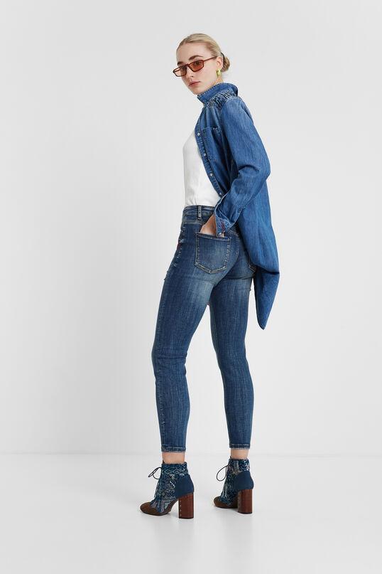 Pantalons denim cor al maluc Alba   Desigual
