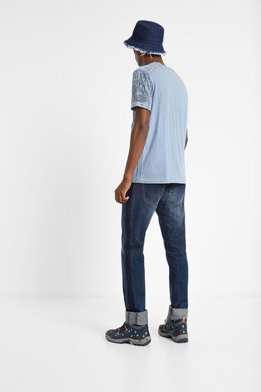 100% cotton Mandarin collar T-shirt | Desigual