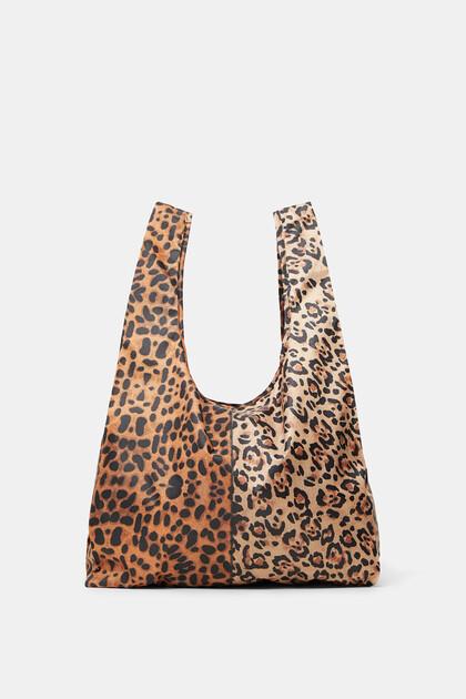 Opvouwbare tas met luipaardprint