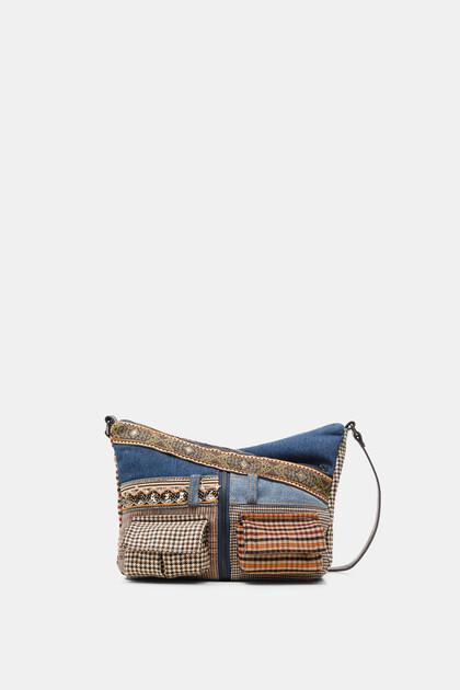 Kleine schoudertas met patchwork