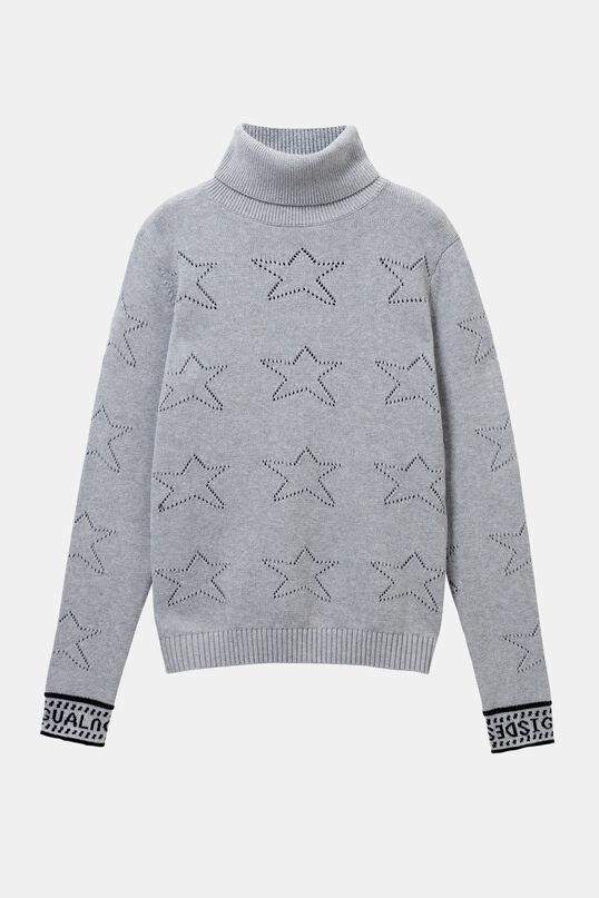 Cotton jumper die-cut stars | Desigual
