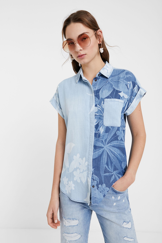 Camicia Tencel™ di jeans hawaiana | Desigual