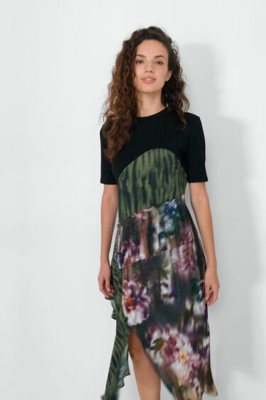 T-shirt dress patches | Desigual