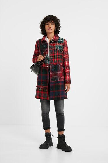 Slim tartan coat | Desigual