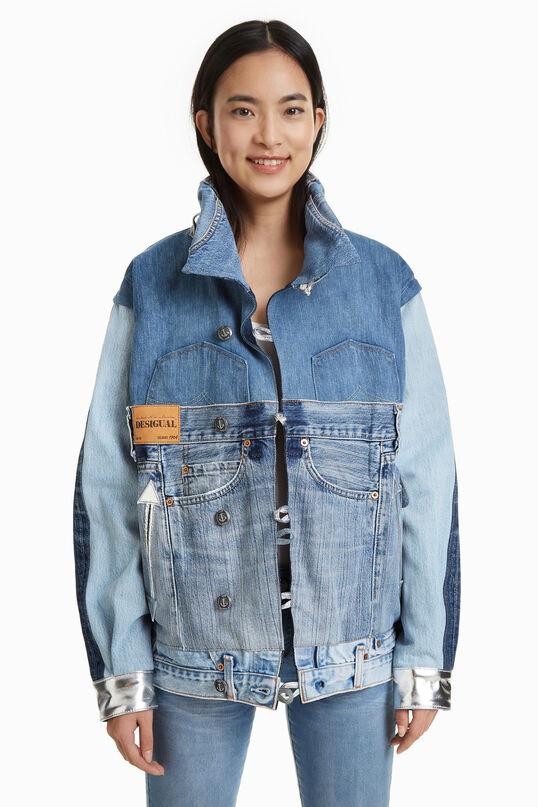 Iconic Jacket met lapjes spijkerstof | Desigual