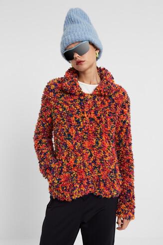 Marbled knit short jumper