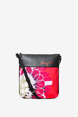 Floral Messenger Bag Poppy flower