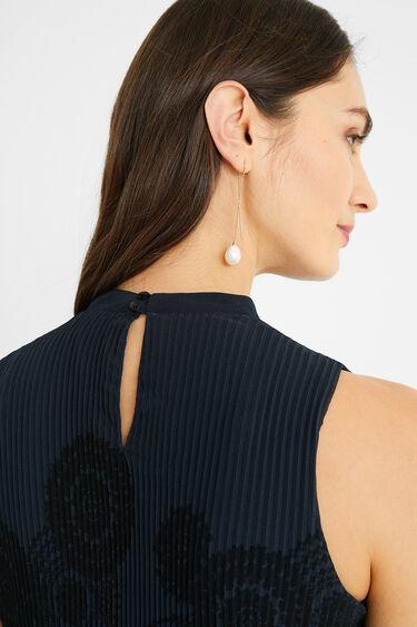 Robe courte plissée | Desigual