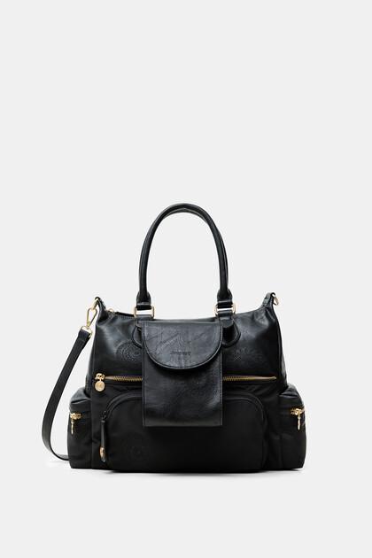 Geprägte Tasche mit Außentasche