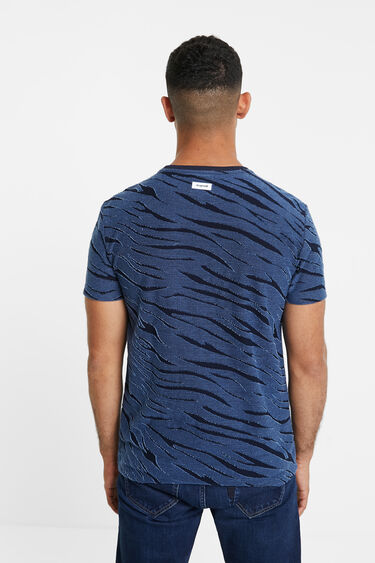 Blue animal print T-shirt | Desigual