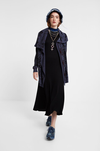 Neck cape jacket