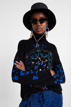Pull oversize coeurs