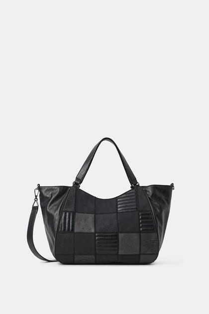 Shoulder bag soffietto laterale