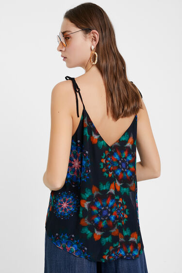 Blouse with straps and mandalas | Desigual