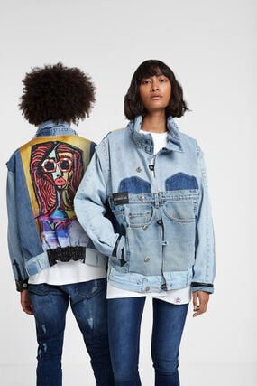 "Iconic jacket ""Expressionist girl"""